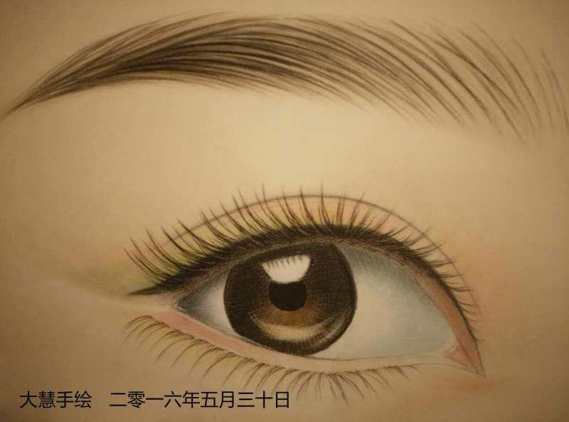纹绣的眉型画法图解