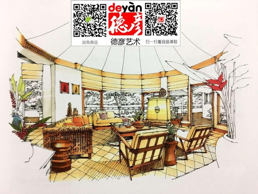 合肥室内设计手绘培训班,风景画钢笔画手绘培训班