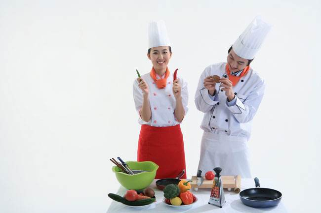 厨师方巾系法图解