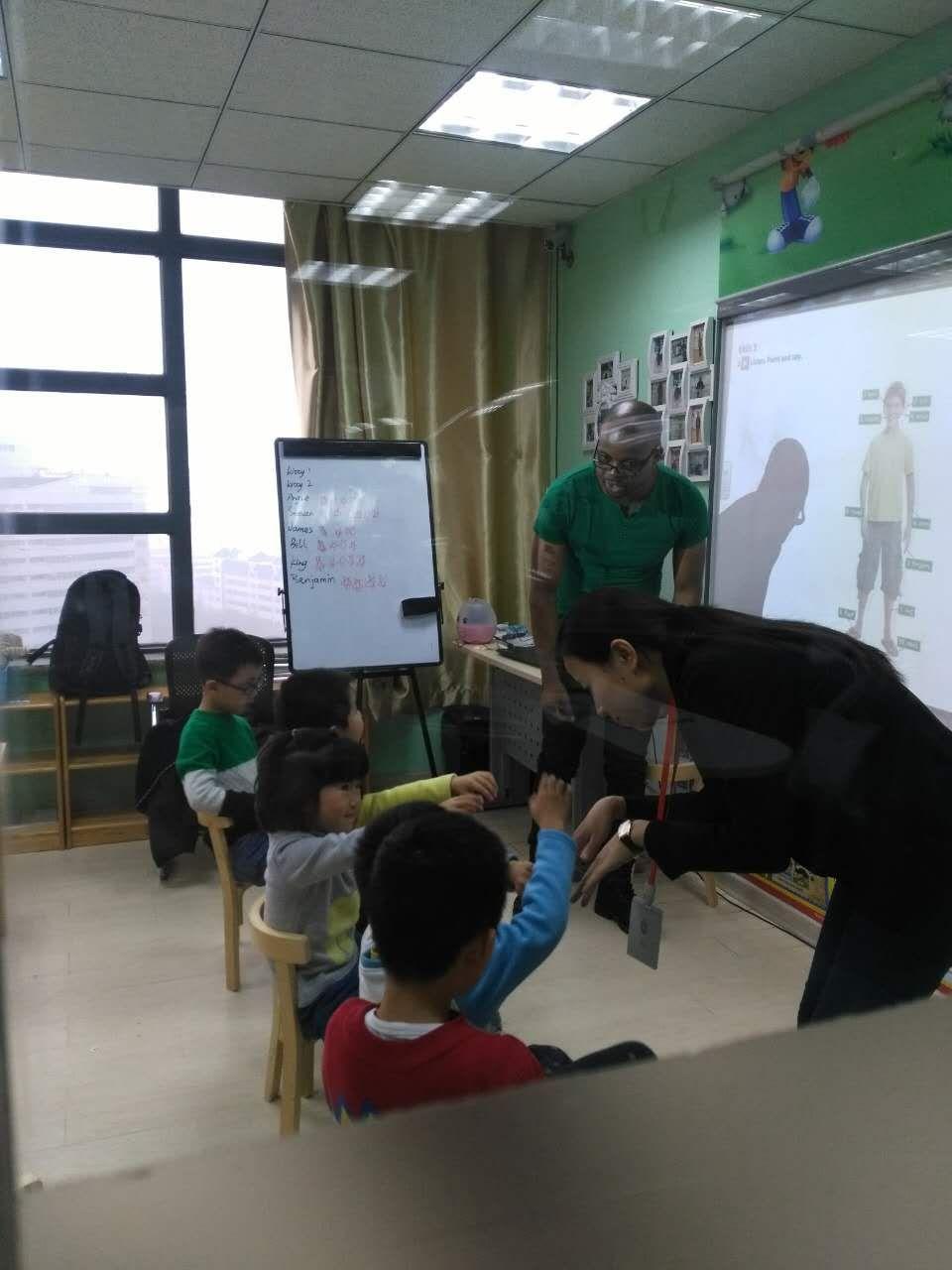 北京汉普森英语培训学校 外教课堂
